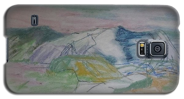Galaxy S5 Case featuring the painting Mount Desert Back Side by Francine Frank