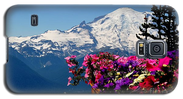Galaxy S5 Case featuring the photograph Mount Rainier Seen From Crystal Mountain Summit  3 by Tanya  Searcy