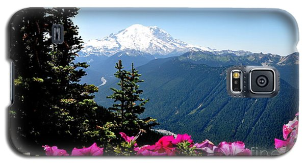 Galaxy S5 Case featuring the photograph Mount Rainier Seen From Crystal Mountain Summit  5 by Tanya  Searcy