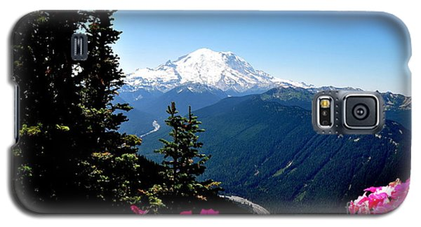 Galaxy S5 Case featuring the photograph Mount Rainier Seen From Crystal Mountain Summit  6 by Tanya  Searcy