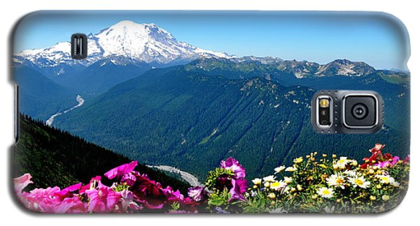Galaxy S5 Case featuring the photograph Mount Rainier Seen From Crystal Mountain Summit by Tanya  Searcy