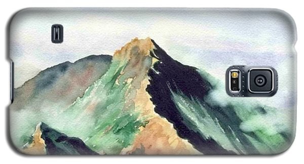 Galaxy S5 Case featuring the painting Mountain  1 by Yoshiko Mishina