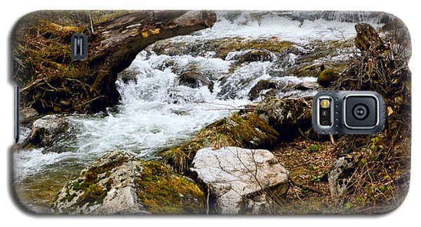 Galaxy S5 Case featuring the photograph Mountain Stream by Les Palenik