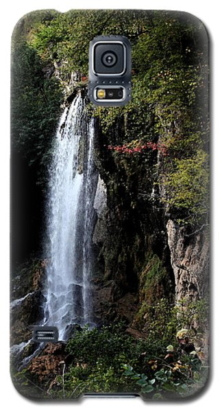 Galaxy S5 Case featuring the painting Mountain Waterfall by Karen Harrison