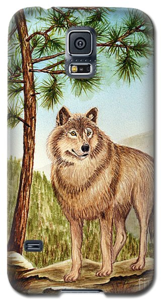 Mountain Wolf Galaxy S5 Case by Judy Filarecki