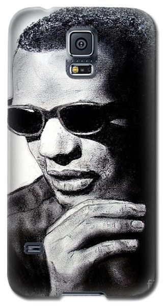 Galaxy S5 Case featuring the painting Music Legend Ray Charles by Jim Fitzpatrick