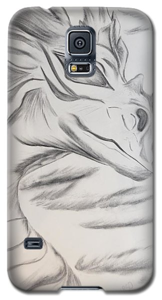 Galaxy S5 Case featuring the drawing My Dragon by Maria Urso