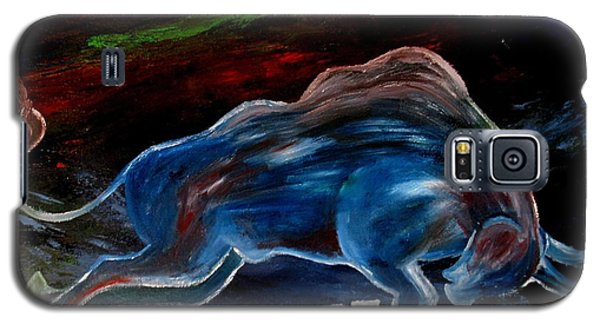 Galaxy S5 Case featuring the painting My Love Begins by Amy Sorrell