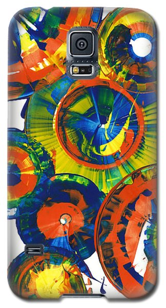 Galaxy S5 Case featuring the painting My Magical Spheres    859.121811 by Kris Haas