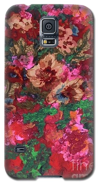 Galaxy S5 Case featuring the painting My Sister's Garden I by Alys Caviness-Gober