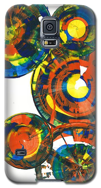 Galaxy S5 Case featuring the painting My Spheres Show Happiness  864.121811 by Kris Haas