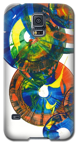 Galaxy S5 Case featuring the painting My Spherical Joy '' Jump Up ''  858.121711 by Kris Haas