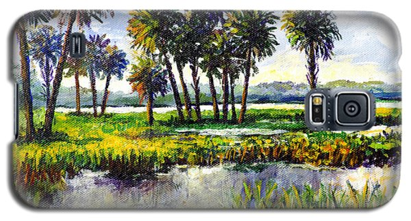 Galaxy S5 Case featuring the painting Myakka Lake by Lou Ann Bagnall