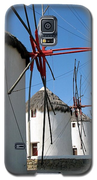 Galaxy S5 Case featuring the photograph Mykonos Windmills by Carla Parris
