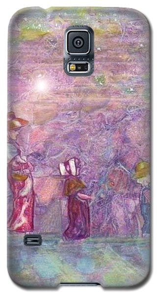 Galaxy S5 Case featuring the mixed media Mystical Stroll by Ray Tapajna