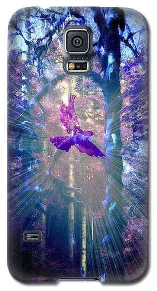 Galaxy S5 Case featuring the photograph Mystical Wings by Amanda Eberly-Kudamik