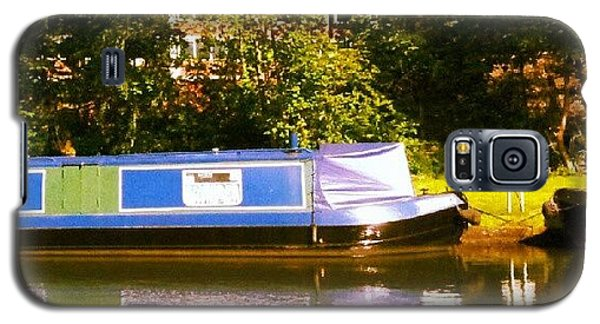 Holiday Galaxy S5 Case - Narrowboat In Blue by Abbie Shores