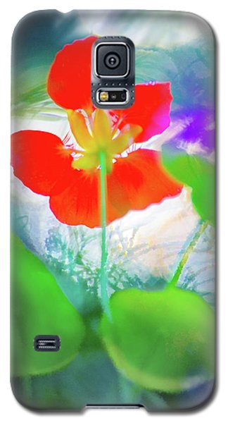 Galaxy S5 Case featuring the photograph Nasturtium by Richard Piper