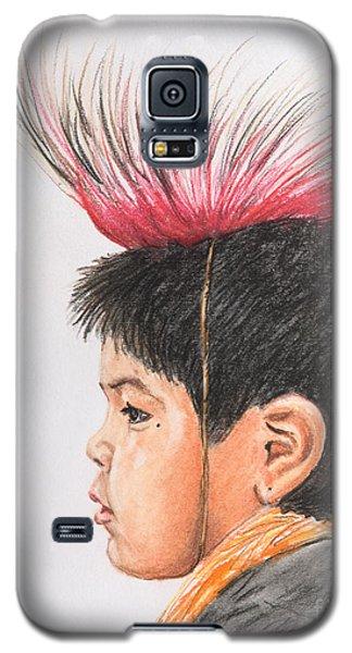 Native American Boy With Headdress Galaxy S5 Case