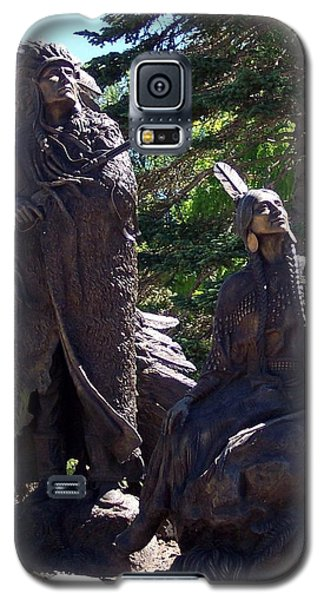 Native American Statue Galaxy S5 Case by Chalet Roome-Rigdon