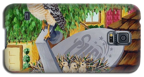 Nature Channel- Red Shouldered Hawk Galaxy S5 Case by Katherine Young-Beck