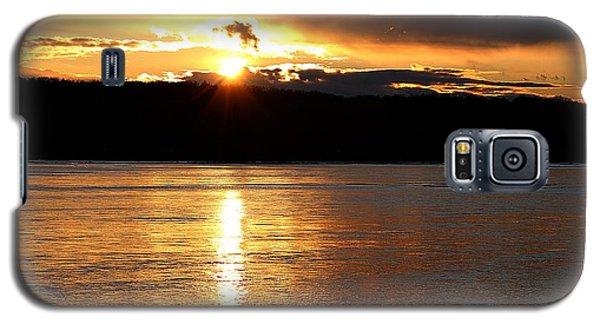 Galaxy S5 Case featuring the photograph Nebraska Sunset by Elizabeth Winter
