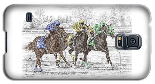 Neck And Neck - Horse Race Print Color Tinted Galaxy S5 Case