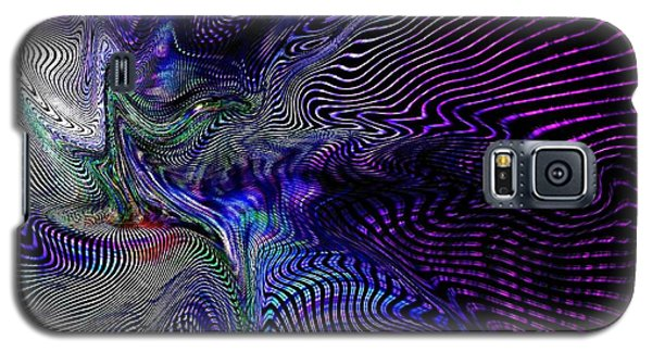 Galaxy S5 Case featuring the digital art Neon Zebra by Greg Moores