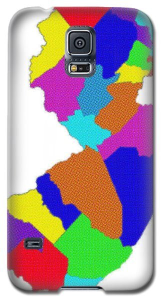 New Jersey Colorful Counties Galaxy S5 Case