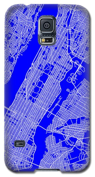 New York City Map Streets Art Print   Galaxy S5 Case by Keith Webber Jr