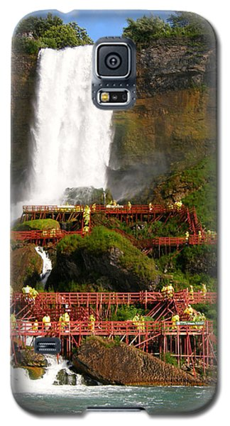 Galaxy S5 Case featuring the photograph Niagara Falls Cave Of The Winds by Mark J Seefeldt
