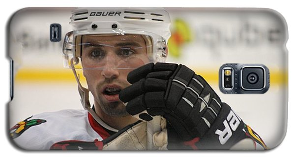 Galaxy S5 Case featuring the photograph Nick Leddy - Chicago Blackhawks by Melissa Goodrich