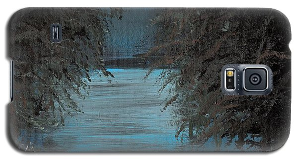 Galaxy S5 Case featuring the painting Night In The Bayou by Alys Caviness-Gober