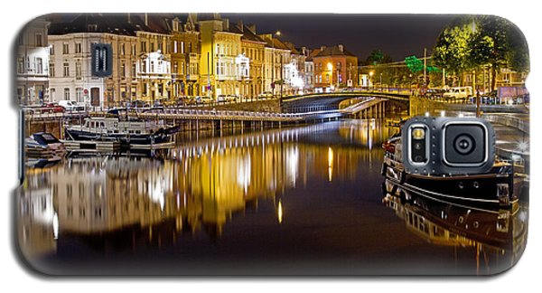 Nighttime Along The River Leie Galaxy S5 Case