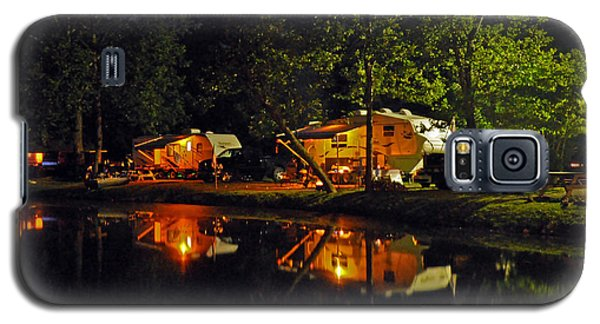 Nighttime In The Campground Galaxy S5 Case