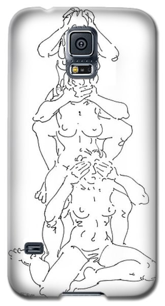 Galaxy S5 Case featuring the drawing Nude Female Drawings 5 by Gordon Punt