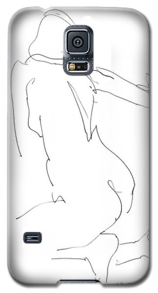 Galaxy S5 Case featuring the drawing Nude Female Drawings 8 by Gordon Punt