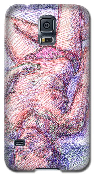 Galaxy S5 Case featuring the drawing Nude Female Sketches 6a by Gordon Punt