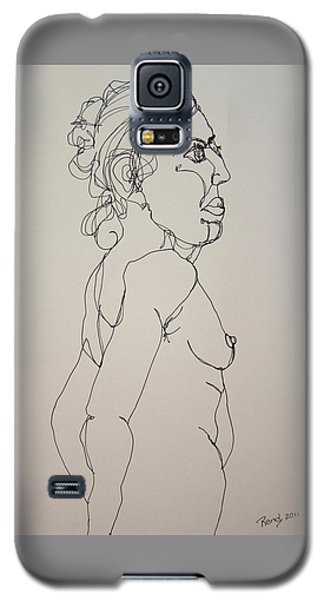 Nude Girl In Contour Galaxy S5 Case by Rand Swift