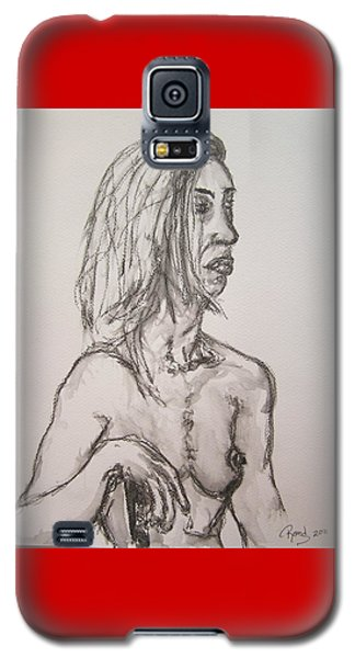 Nude In Washed Graphite Galaxy S5 Case by Rand Swift