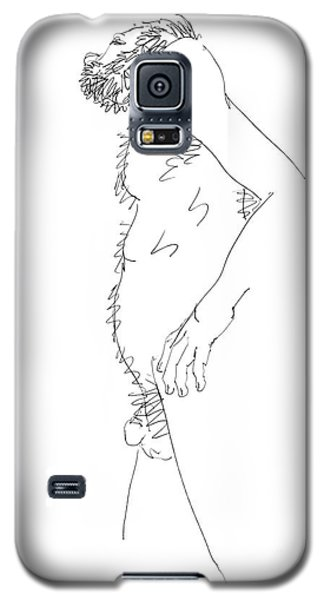 Galaxy S5 Case featuring the drawing Nude Male Drawings 6 by Gordon Punt