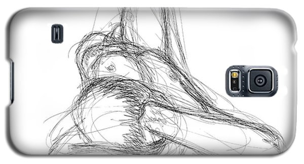 Galaxy S5 Case featuring the drawing Nude Male Sketches 3 by Gordon Punt