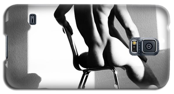 Nude Man On Chair Galaxy S5 Case by Sumit Mehndiratta