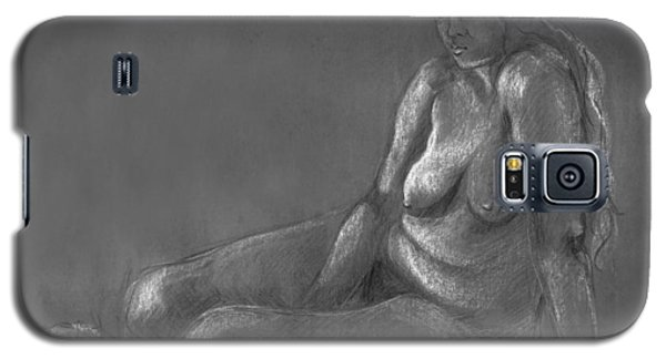 Nude Of A Real Woman In Black Galaxy S5 Case