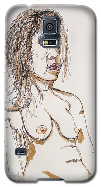 Nude Sitting With Ink Galaxy S5 Case by Rand Swift