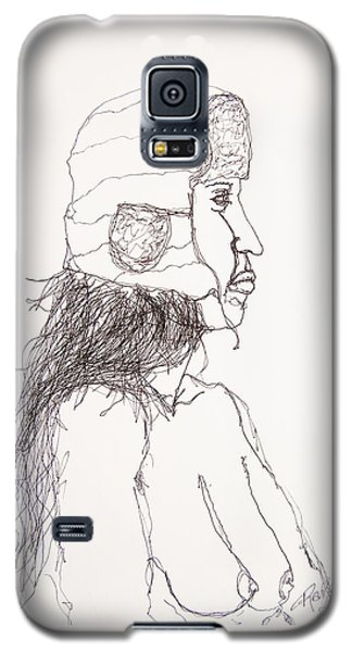 Nude With Hat On Bus Galaxy S5 Case by Rand Swift
