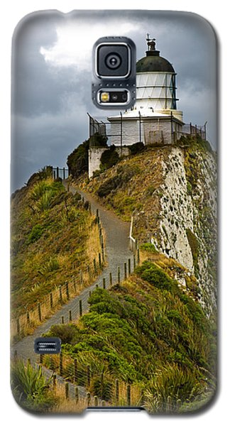 Nugget Point Light House And Dark Clouds In The Sky Galaxy S5 Case