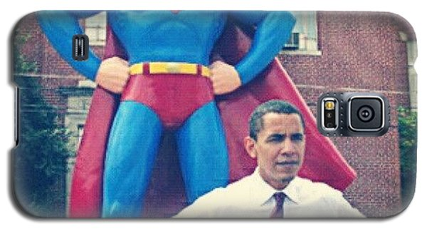 Political Galaxy S5 Case - #obama And His #superman #alter-ego by S Breil