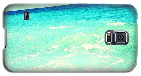#ocean #plain #myrtlebeach #edit #blue Galaxy S5 Case by Katie Williams