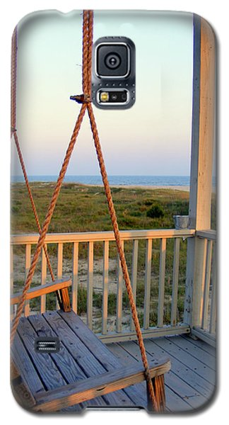 Galaxy S5 Case featuring the photograph Ocean View At Oak Island Nc by Kelly Nowak